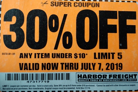 Harbor Freight Fourth of July Sale - 30% Off Any 5 Items