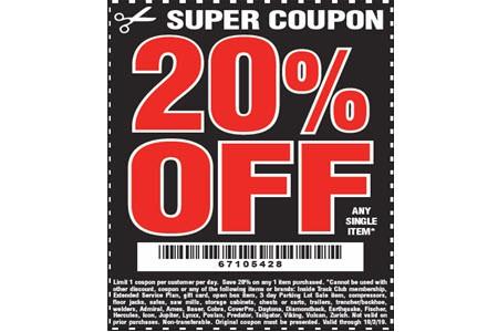 25% Tools Discounts for Generators, Free Items, Sales