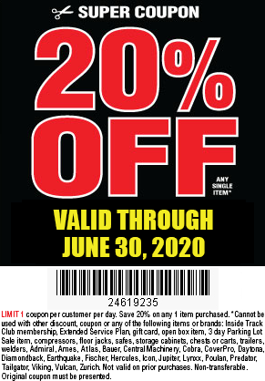 Harbor Freight 20 Percent Coupon 20 Off Your Next Purchase